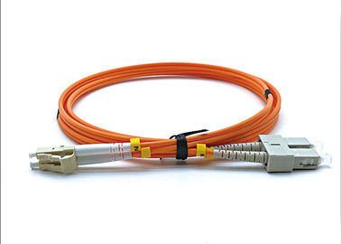 LC UPC To SC UPC Multimode Fiber Optic Cable Duplex 3.0mm LSZH OM2 850/1300nm Wavelength