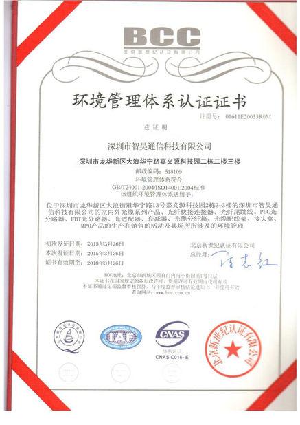 DWDM 1260 - 1600 nm Fiber Optic Attenuator FC - LC Male