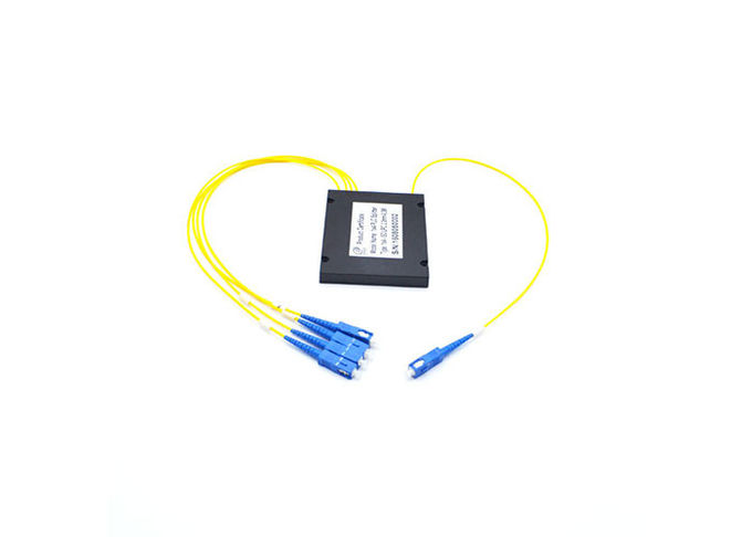 Box Type Fiber Optic PLC Splitter Stability 2x16 Splits For CATV System